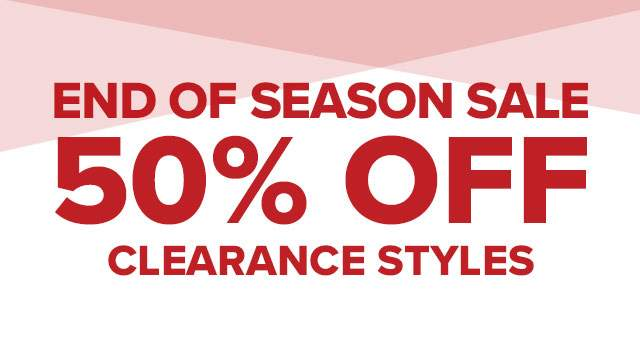 50% off on clearance!