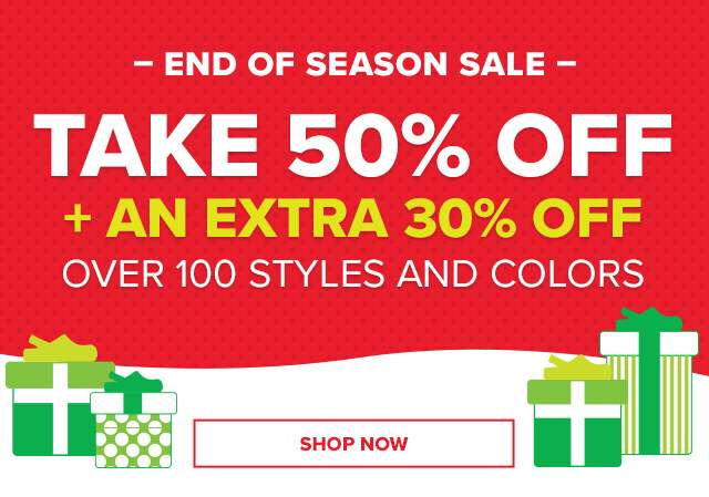 TAKE 50% OFF + AN EXTRA 30% OFF!
