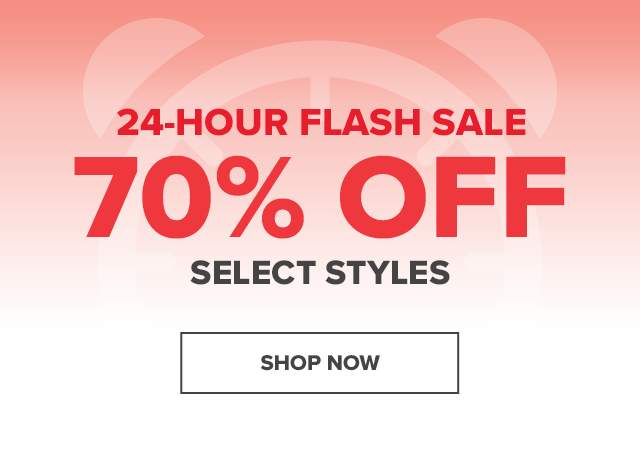 70% OFF SELECTED STYLES