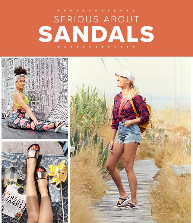 SERIOUS ABOUT SANDALS