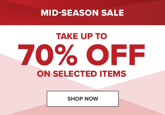 TAKE UP TO 70% OFF