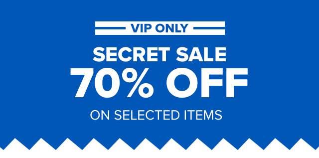 SECRET SALE 70% OFF