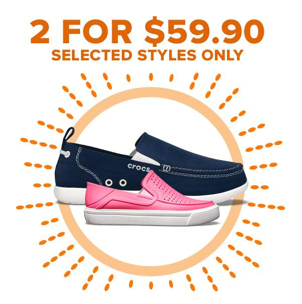2 FOR $59.90 SELECTED STYLES ONLY