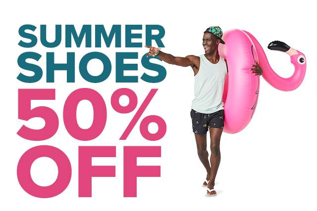 SUMMER SHOES 50% OFF
