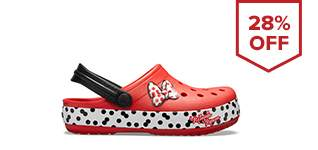 Kids' Crocs Fun Lab Minnie Rocks The Dots Clog