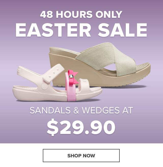 SANDALS & WEDGES AT $29.99