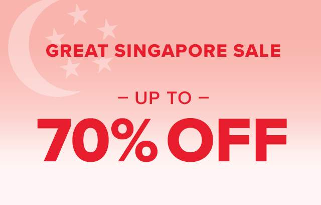 Great Singapore Sale up to 70% off