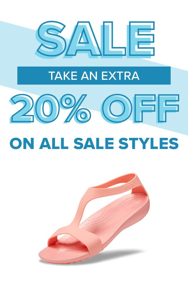 TAKE AN EXTRA 20% OFF ON ALL SALE STYLES