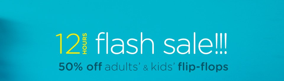 Crocs Australia flash sale 50% off flip-flops just for 12 hours only