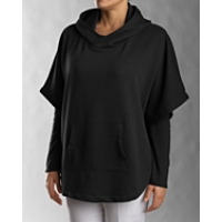 Half Sleeve Hooded Poncho