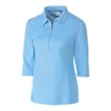 Blaine Oxford 3/4 Sleeve Zip Polo