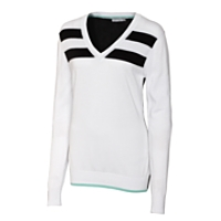 Gidgett Striped V-neck Sweater