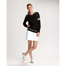 Clubhouse Sleeve Striped V-neck Sweater