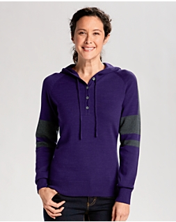 Kate Hooded Henley Sweater