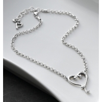 Brighton Tuscan Etched Heart Necklace