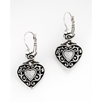 Brighton Reno Heart Earrings