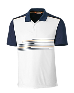 Stagger Print Polo