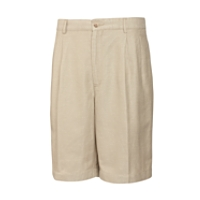B&T Houndstooth Linen Pleated Short