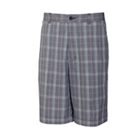 Hideaway Plaid Flat Front Short
