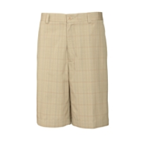 Canal Plaid Flat Front Short