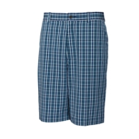 Tidal Plaid Flat Front Short