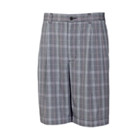 B&T Hideaway Plaid Pleated Short