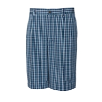 B&T Tidal Plaid Pleated Short