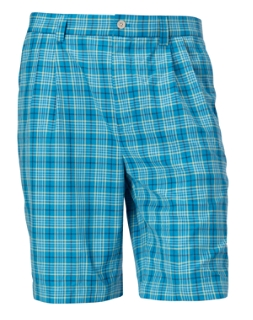 B&T McKinley Plaid Flat Front Short