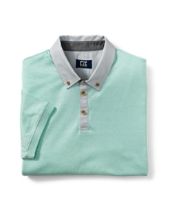 B&T Mercerized Midvale Stripe Polo