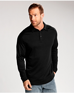 B&T L/S Belfair Pima Polo