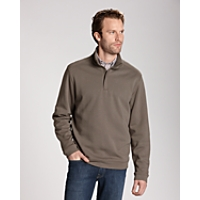 B&T L/S Pima Decatur Half-Zip