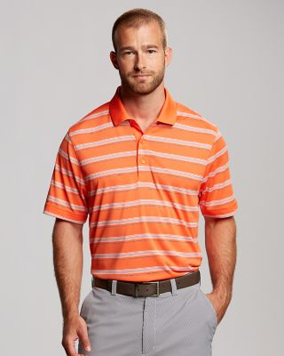 CB DryTec Vertex Stripe Polo Sharp stripes and classic styling make our moisture-wicking CB DryTec Vertex Stripe Polo a true go-anywhere essential. Features a double-faced knit collar, three-button placket, and side vents. 100% polyester. Machine wash, delicate. Tumble dry low, delicate.