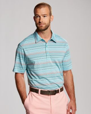 CB DryTec Union Stripe Polo - Horizontal stripes in a range of muted colors lend a laidback vibe to our moisture-wicking CB DryTec Union Stripe Polo. Styled with open sleeves, side vents, a self-fabric collar, and three-button placket.100% polyester. Machine wash, delicate. Tumble dry low, delicate.