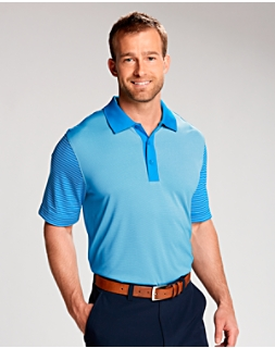 Compound Mixed Stripe Polo