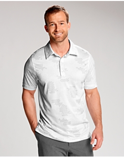 Particle Print Polo