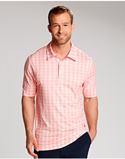 Vineyard Plaid Print Polo