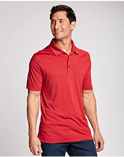 B&T Interbay Melange Stripe Polo