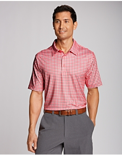 Drift Plaid Print Polo