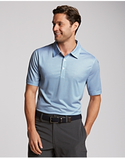 Elevate Plaid Print Polo