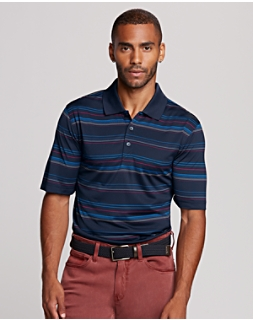 Enhance Stripe Polo