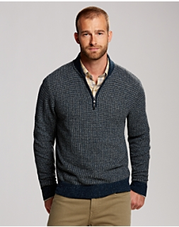 B&T Irish Half Zip Sweater