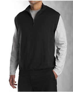 Sandpoint Half Zip Vest Wind Sweater