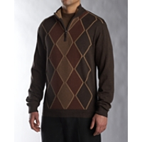B&T Charles Cotton Argyle Half Zip