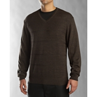 B&T Shadow Stripe Merino V-neck