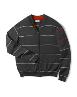 Newcastle Striped Full Zip Cardigan