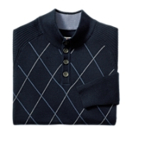 Conner Argyle Mock Neck