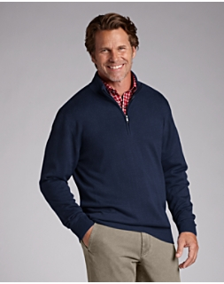 B&T Douglas Half Zip Mock Sweater
