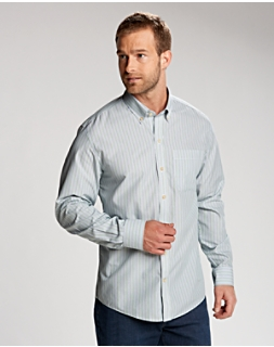 B&T L/S Cypress Wrinkle Free Stripe