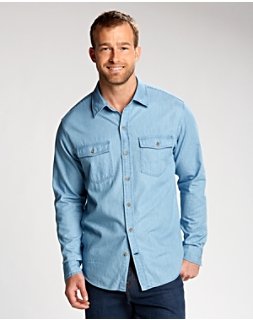 B&T L/S Equinox Denim Shirt