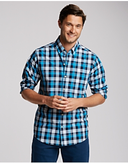 B&T L/S Blue Lake Plaid